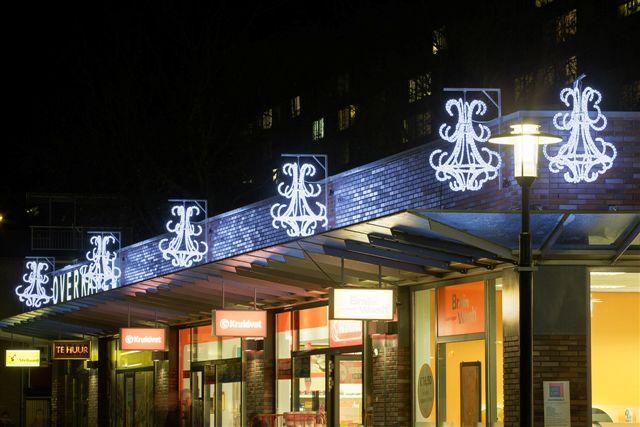 UTRECHT / 4-12-2013 / Winkelcentrum Overkapel, sfeerverlichting geleverd door Wielsma Verlichting Leek    / Foto: Omke Oudeman