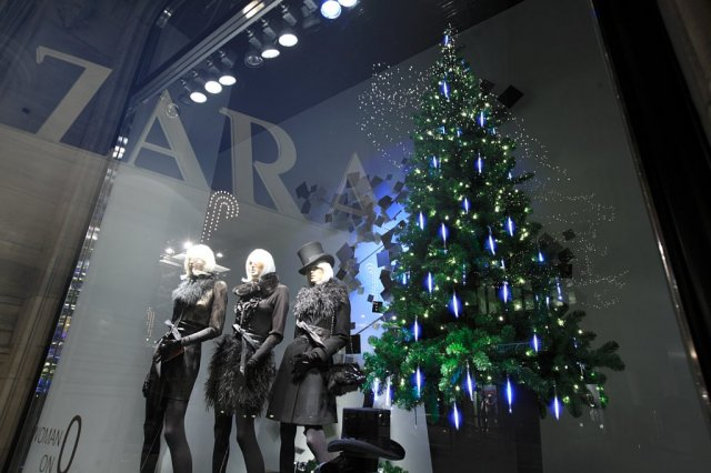 Kerstboom-in-etalage
