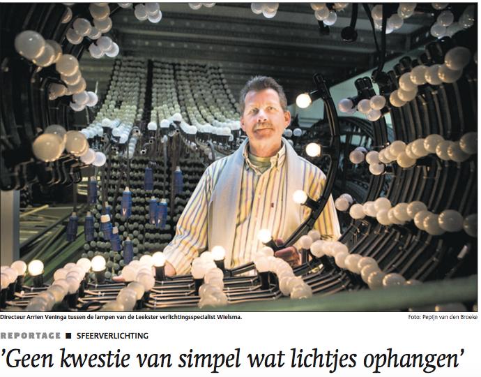 Wielsma Verlichting in Dagblad van het Noorden